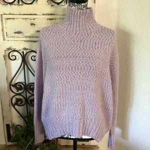 Cynthia rowley lavender chunky knit sweater